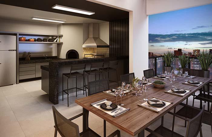 Ambientes integrados no espaço gourmet