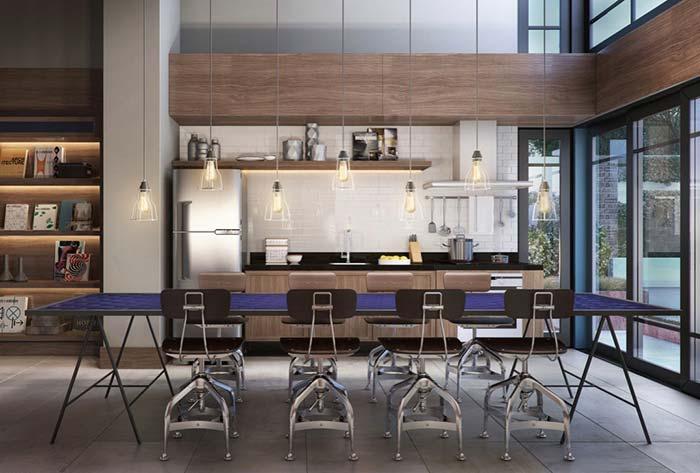 Para cada estilo, um espaço gourmet correspondente