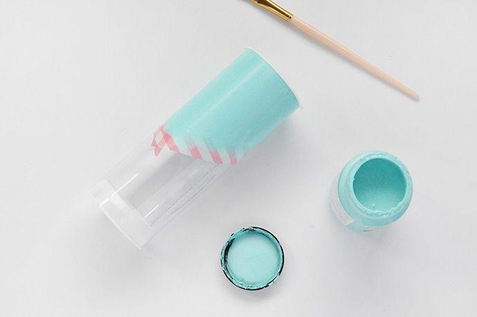 Como pintar garrafa pet: passo 6