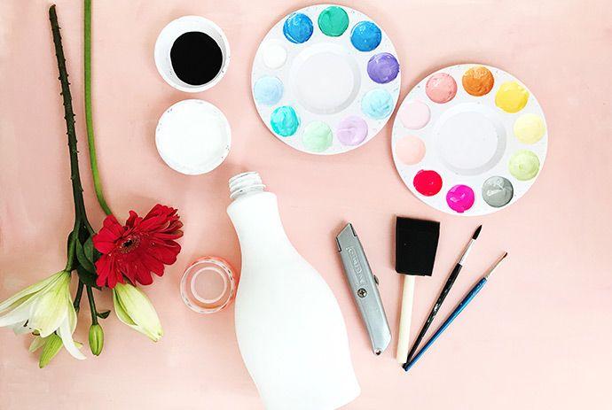 Como pintar garrafa pet: passo 7