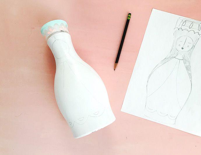 Como pintar garrafa pet: passo 8