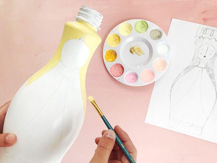 Como pintar garrafa pet: passo 9