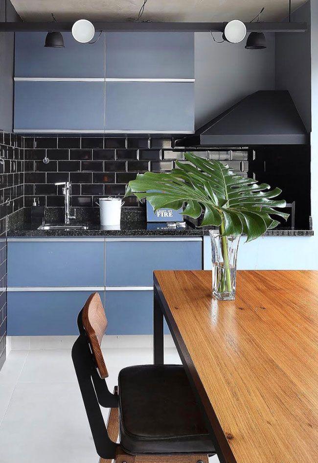 Cozinha moderna com Granito Preto São Gabriel