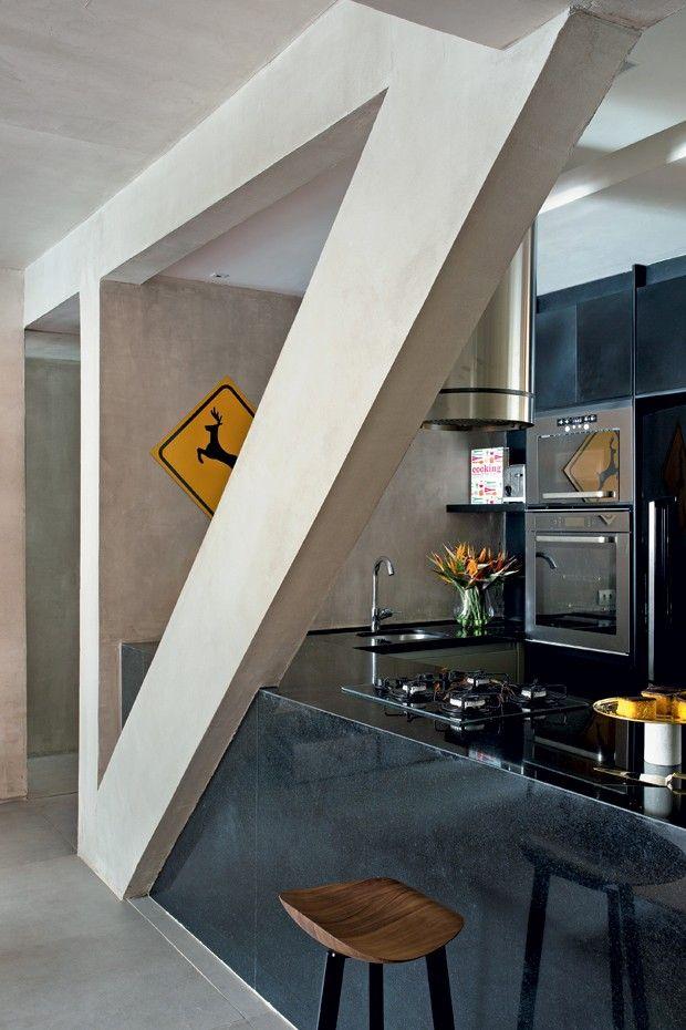 Granito Preto São Gabriel na cozinha