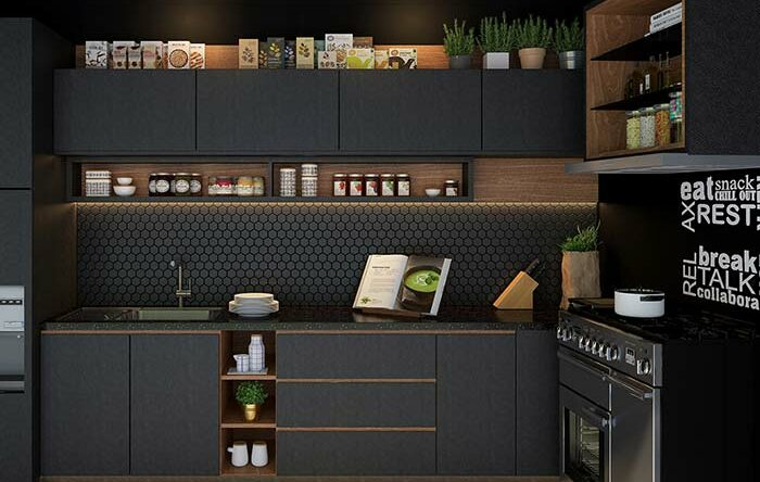 Cozinha preta: conheça 60 modelos atuais que esbanjam criatividade