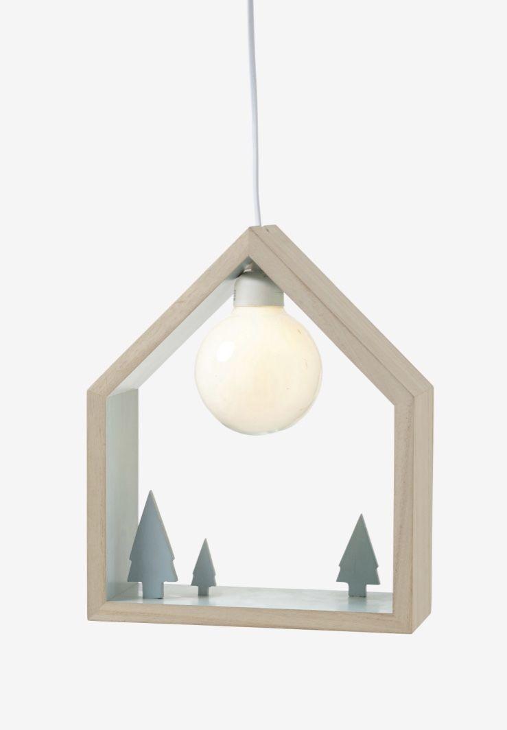 Casinha de madeira com lâmpada