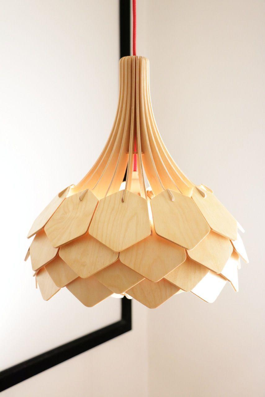 Luminária de madeira: uma obra de arte