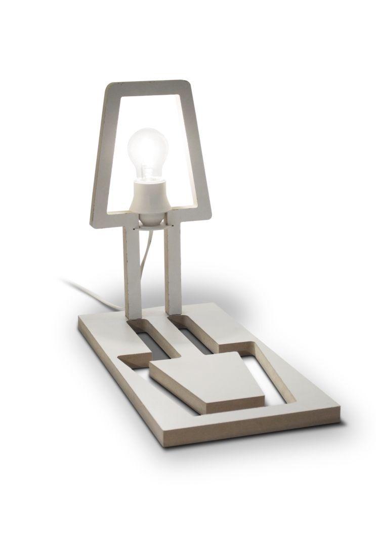 Recorte da luminária transformada no próprio suporte
