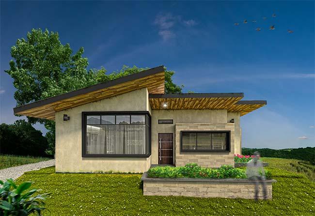 Casa pequena de estilo moderno