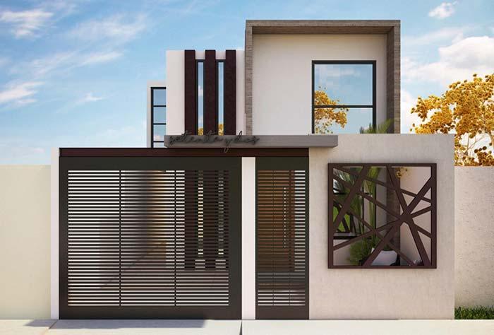 Casas modernas com tons de marrom