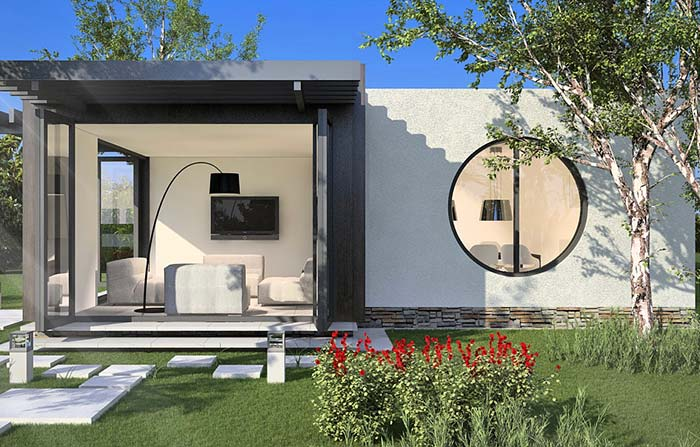 Casa pequena, moderna e minimalista