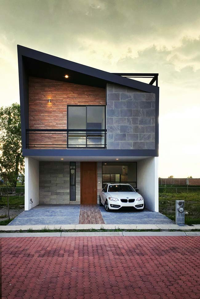 Casas pequenas modelos por fora por dentro plantas e for Fachadas casa modernas pequenas