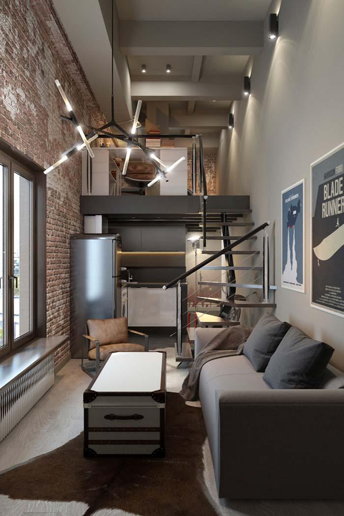 Casa pequena de estilo moderno rústico