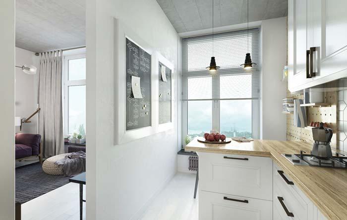 Casa pequena com ambiente clean