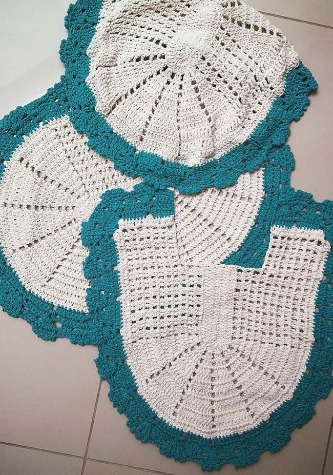 Borda colorida para peças de crochê dual color