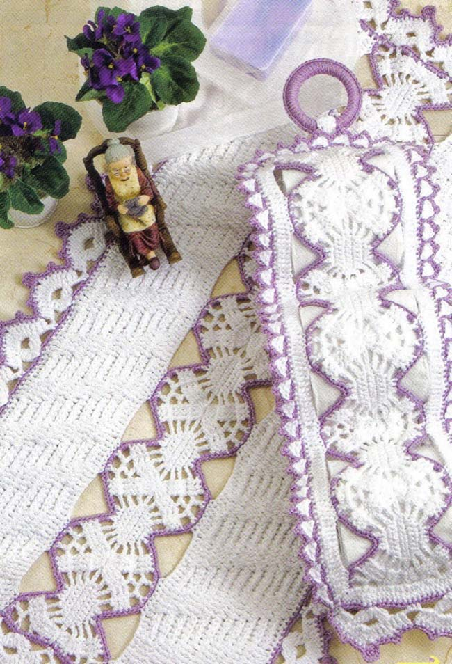 Jogo de banheiro dual color branco e lilás