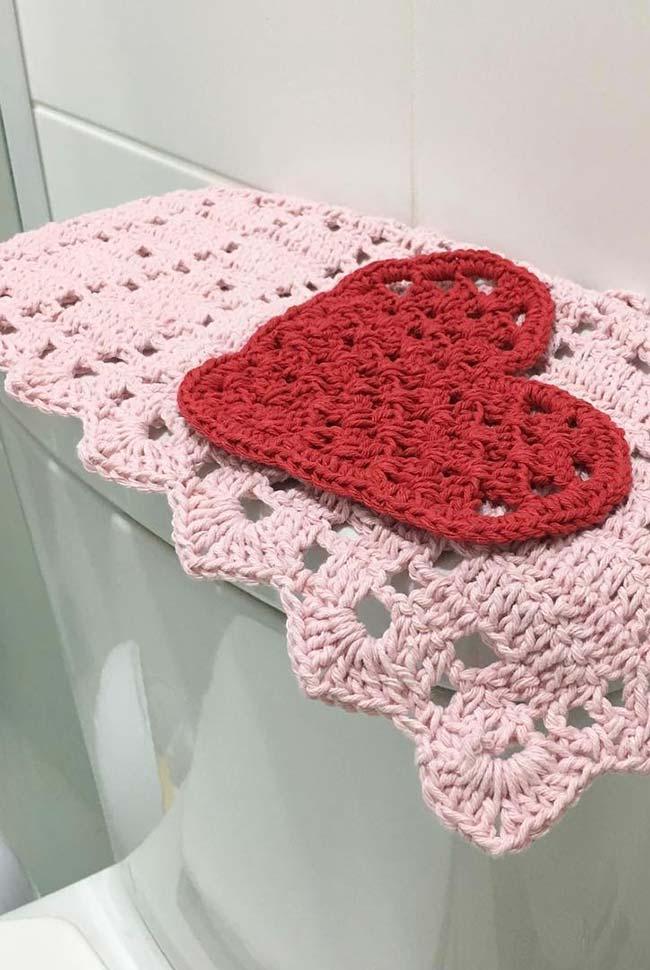 Capa para caixa acoplada em crochê dual color