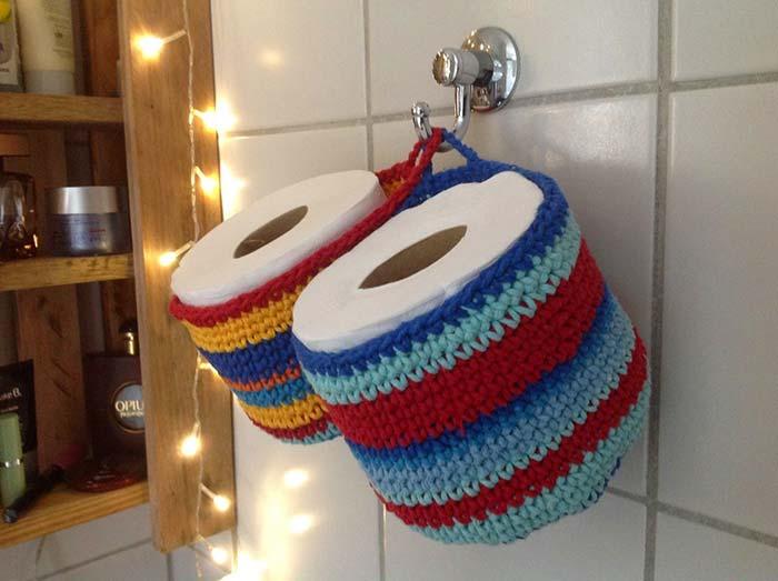 porta papel higiênico duplo colorido