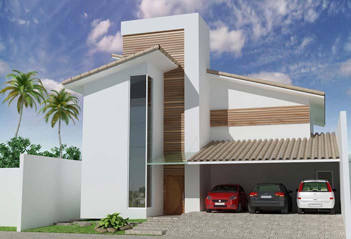 Casa moderna com telhado de PVC