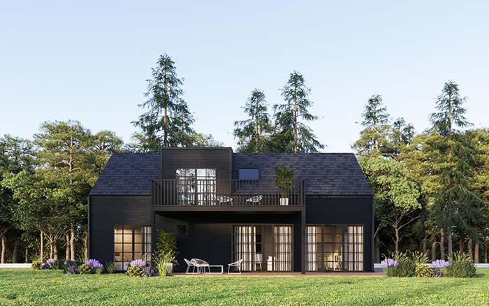 Casa e telhado na mesma cor