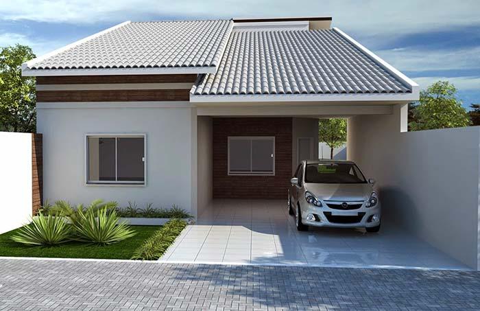 Cor das telhas que valoriza o projeto arquitetônico