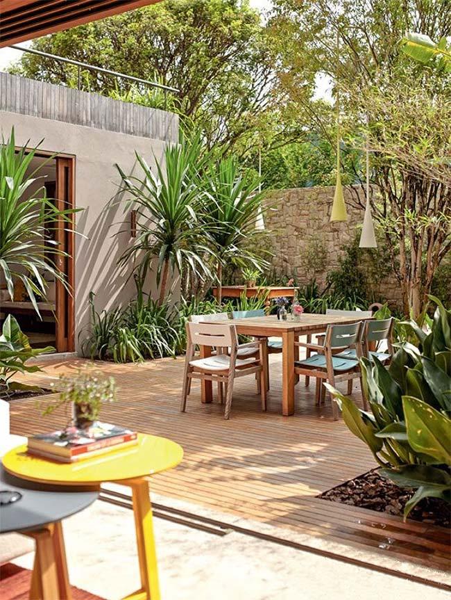 Jardim pequeno simples