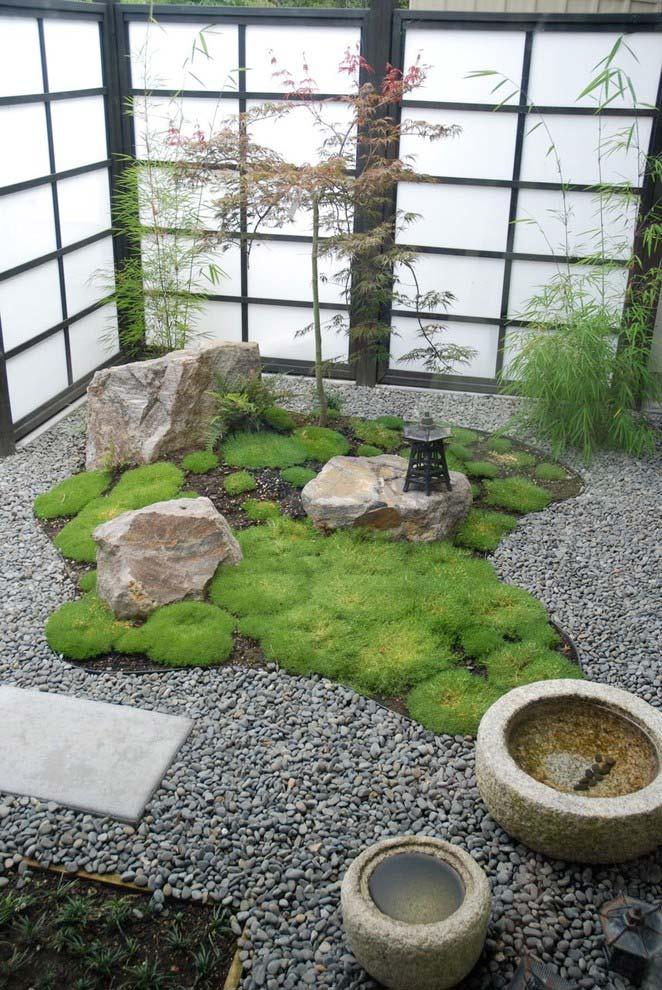 Jardim pequeno no estilo japonês
