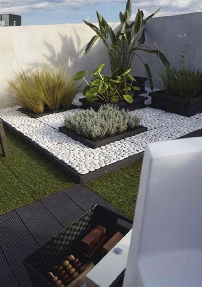Projeto de jardim pequeno com paisagismo