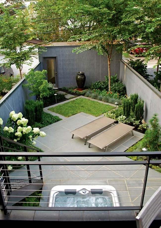 Desenho em zigue-zague no projeto deste jardim