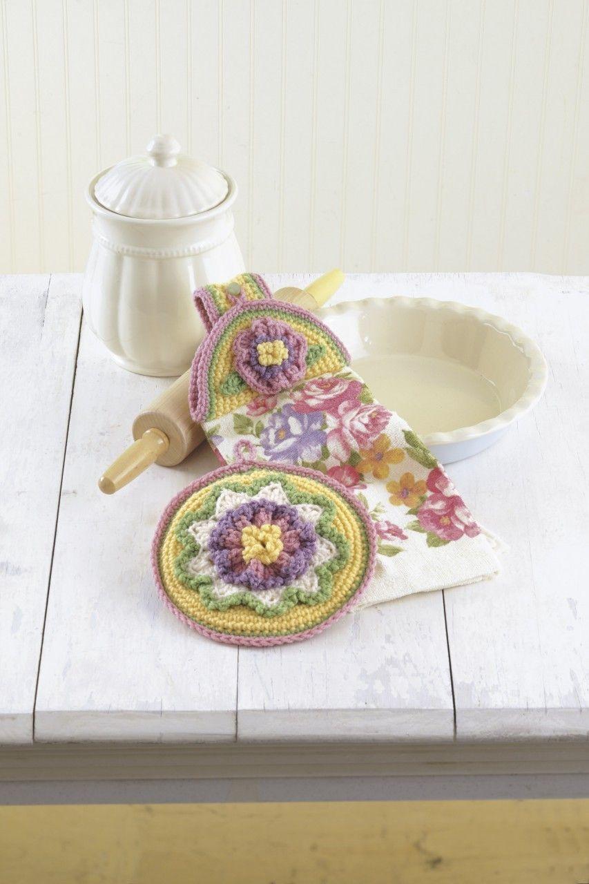 porta pano de prato de crochê com porta guardanapo na mesma peça