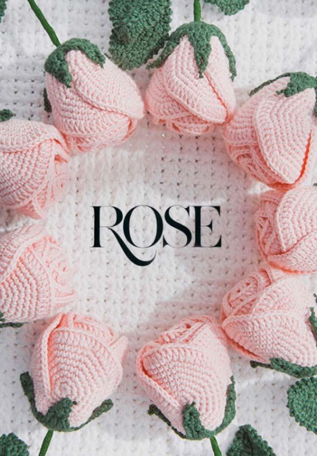 Rosas de crochê apaixonantes