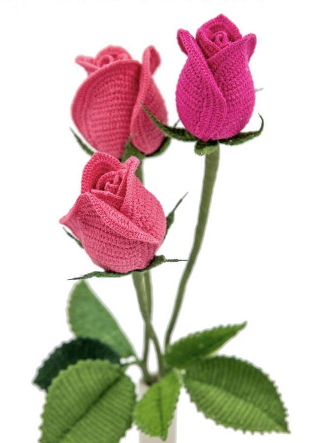 Rosas de crochê perfeitas