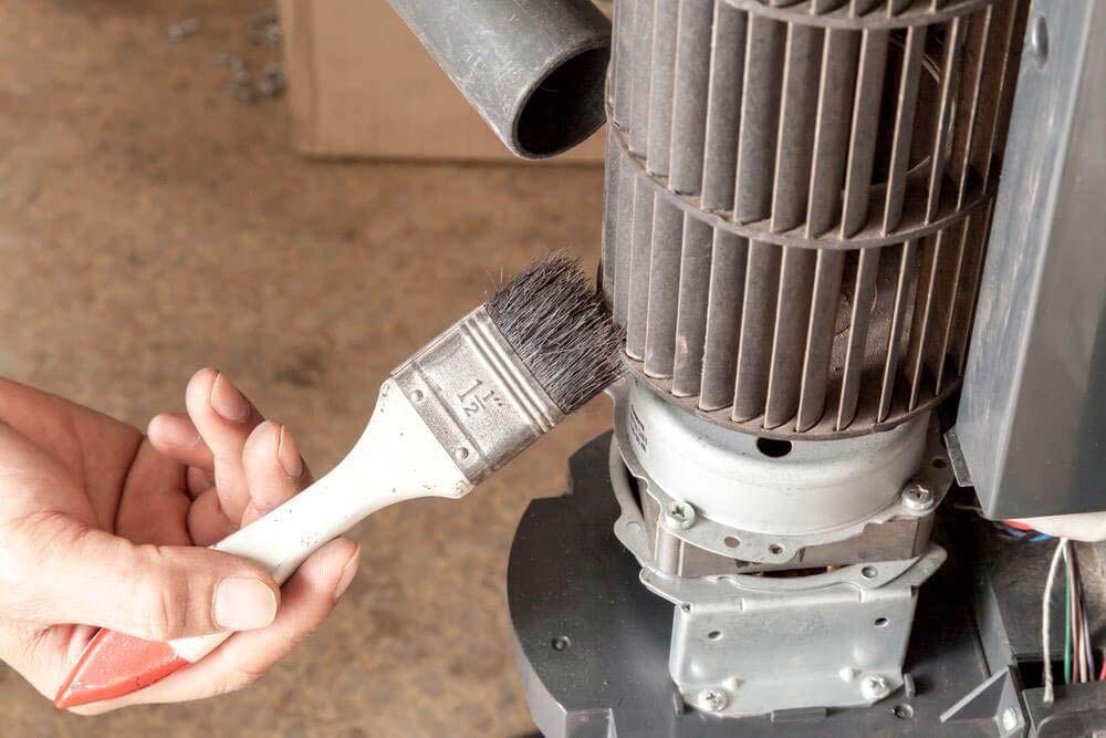 Limpeza das peças do ventilador