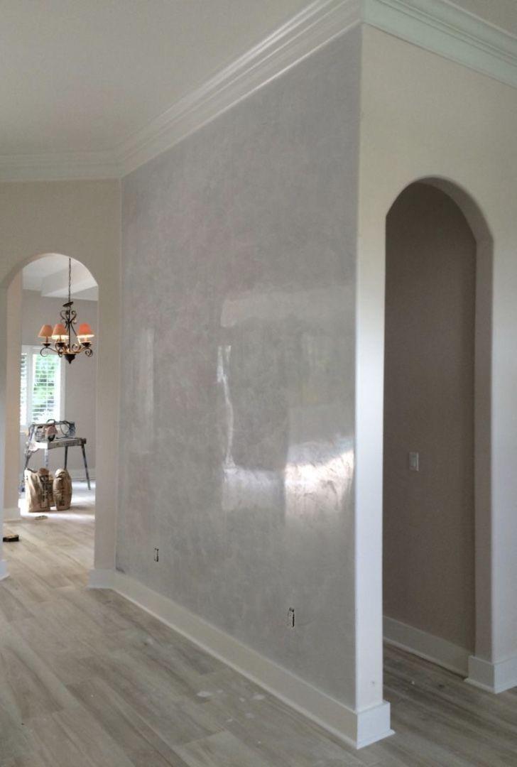 Decoração da casa com brilho do marmorato