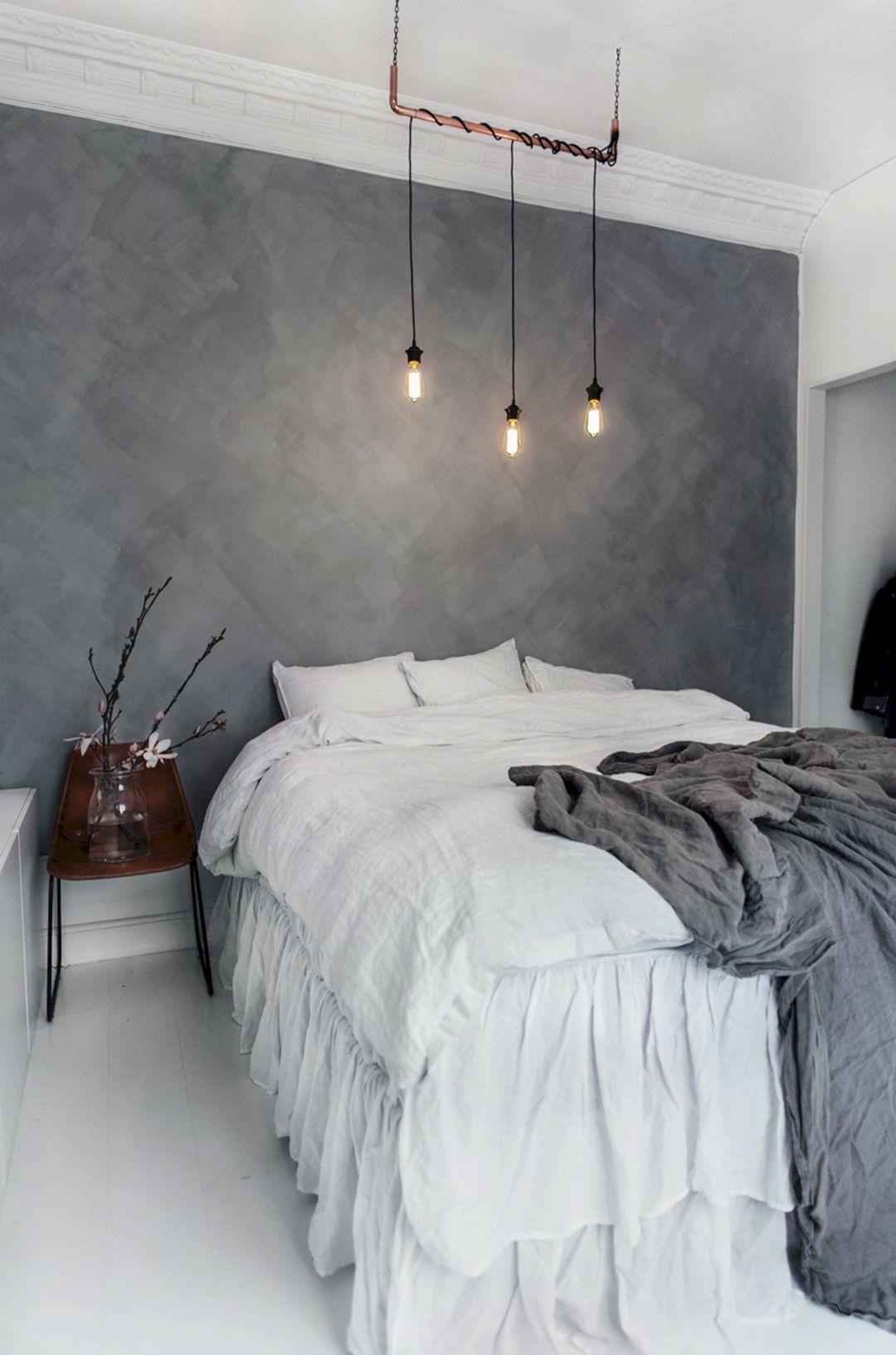Marmorato cinza no quarto branco