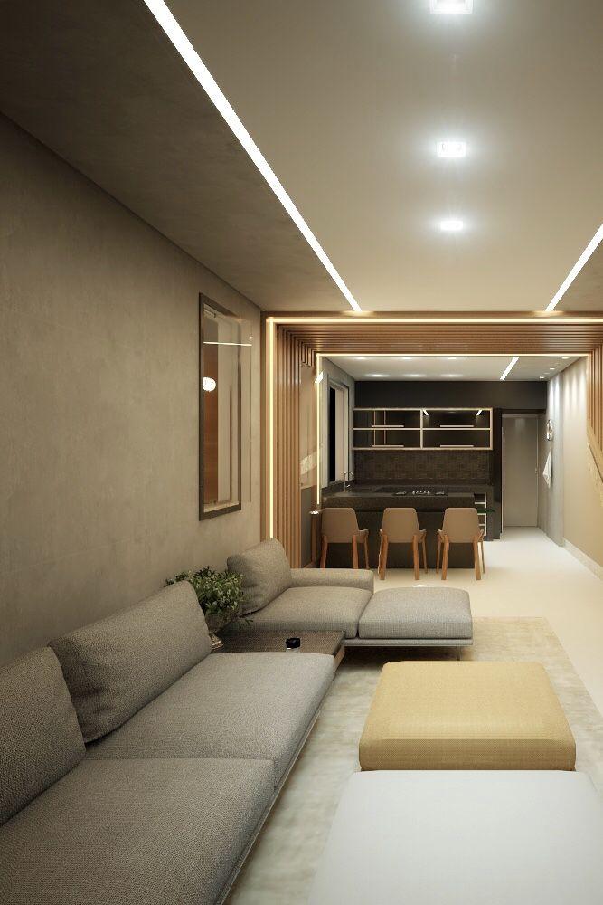 Ambientes integrados com marmorato