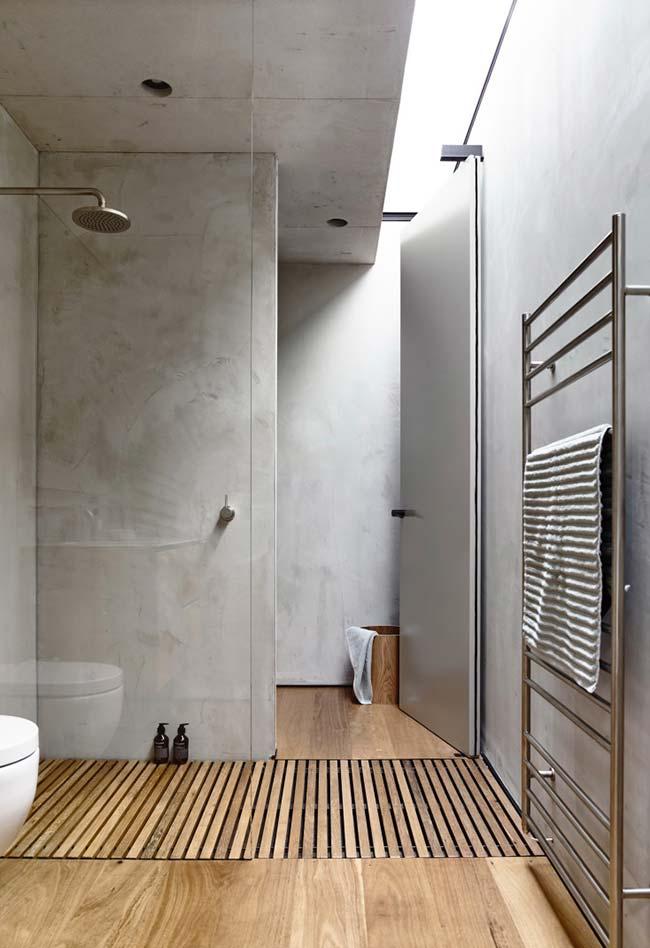 Banheiro com efeito marmorizado