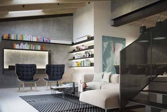 Estilo moderno na decoração da sala com marmorato