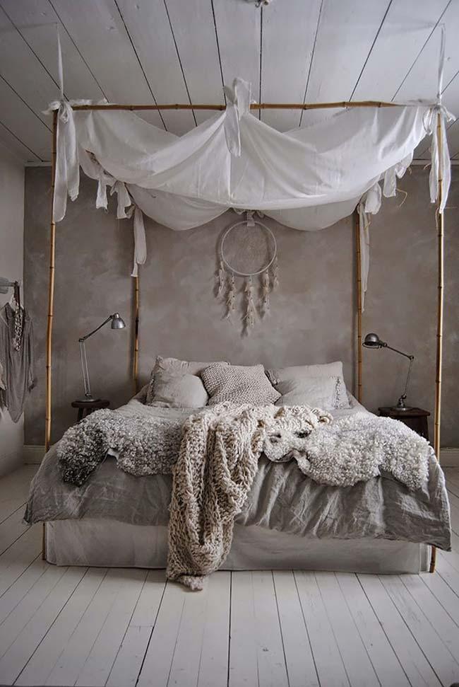 Efeito marmorato no quarto