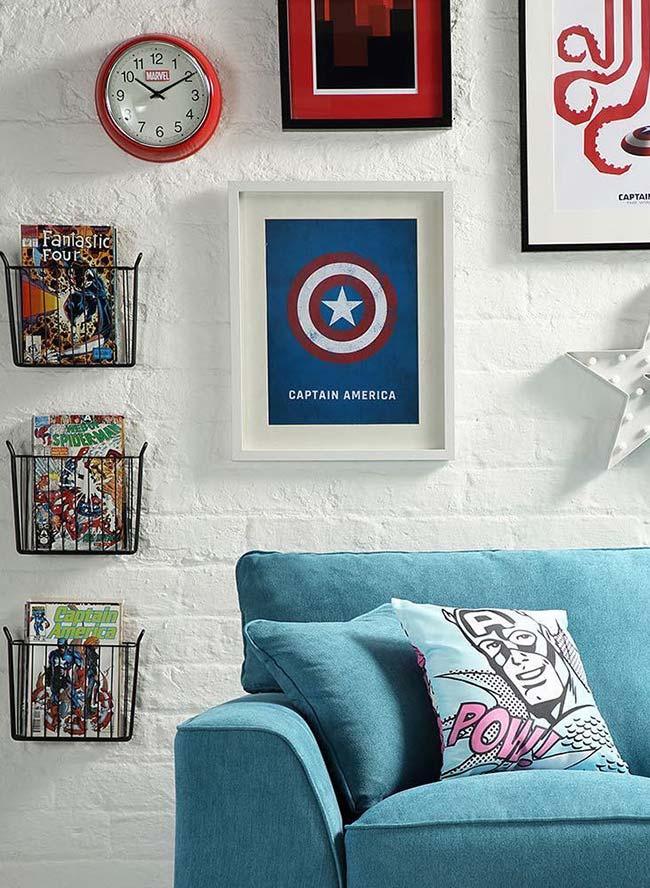 Histórias em quadrinhos na decoração geek