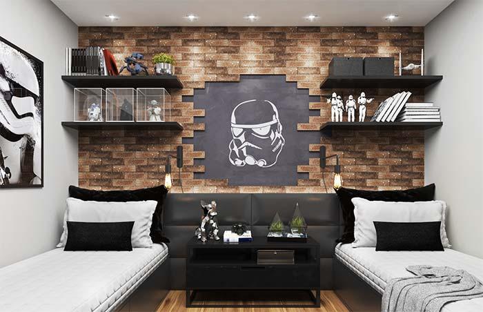 Parede de tijolos poster Darth Vader