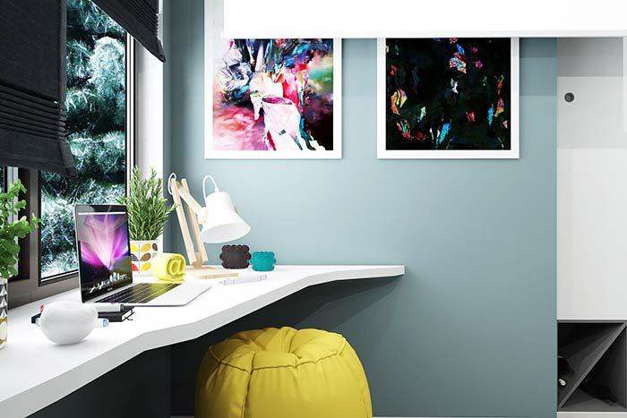 Decoração geek com cores vibrantes