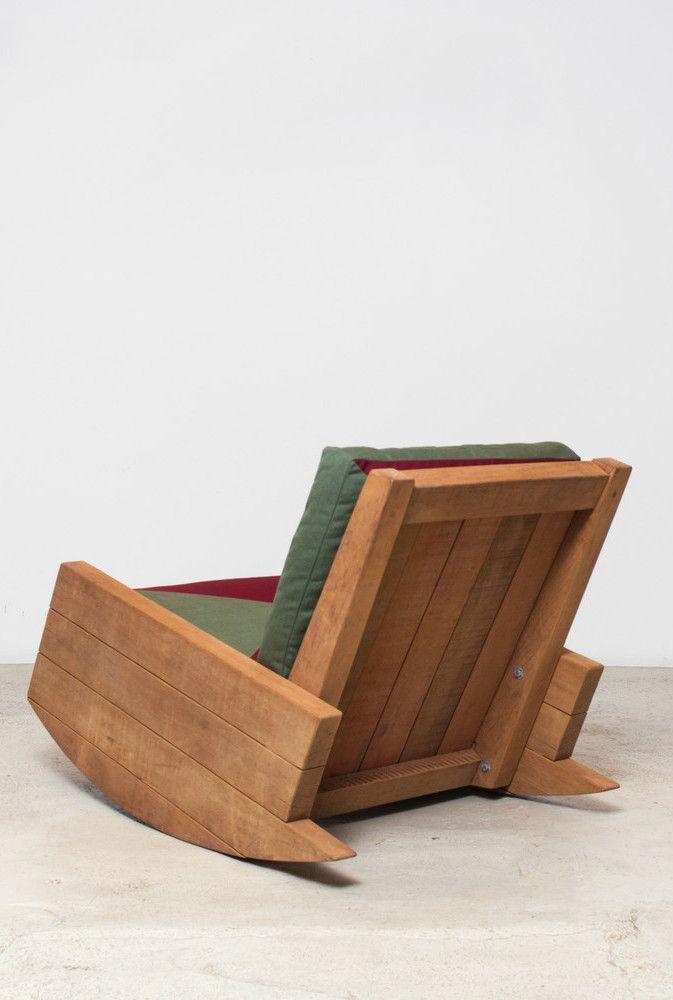 Cadeira de balanço de pallet