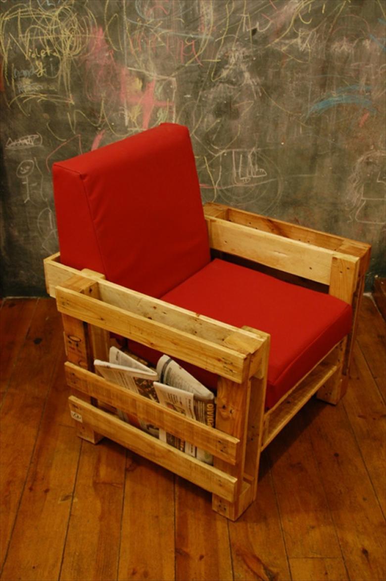 Um bom lugar para guardar os jornais e livros depois da leitura
