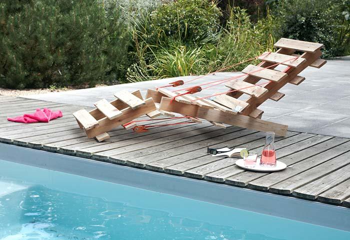 Poltrona de pallet para piscina