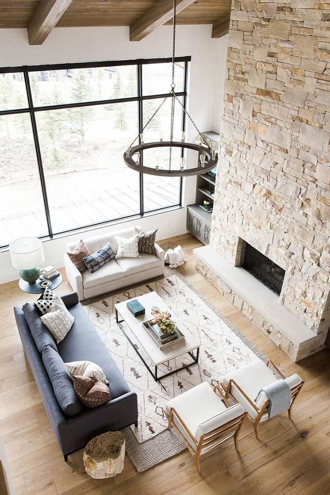 Sala rústica moderna