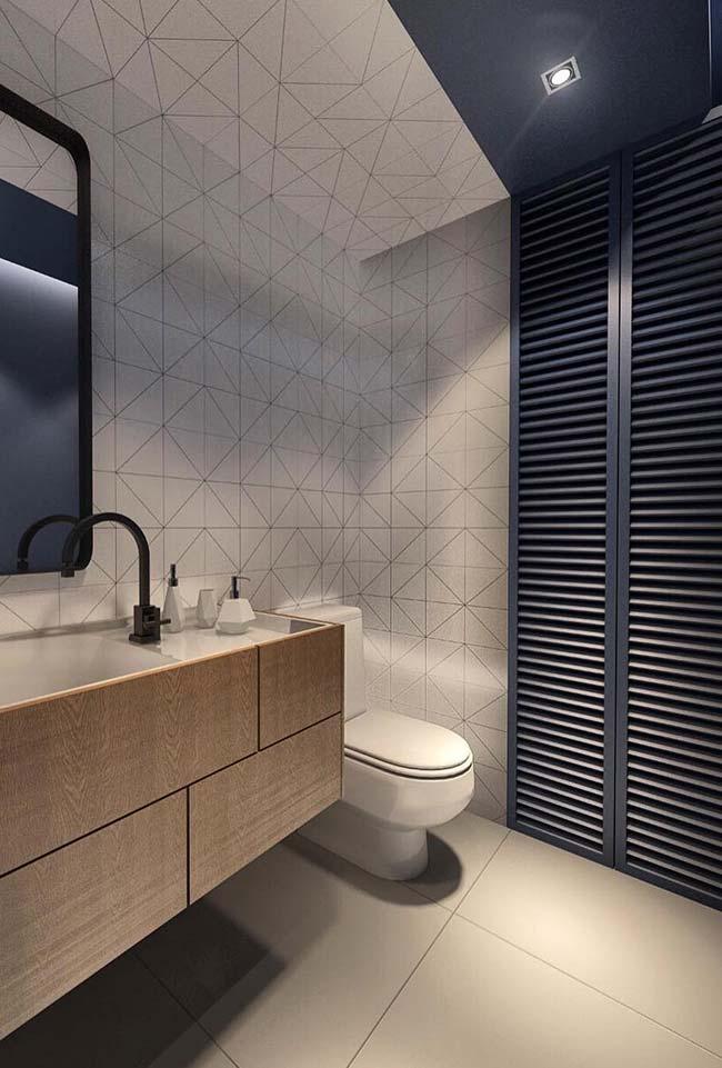"""Banheiro no estilo """"menos é mais"""""""