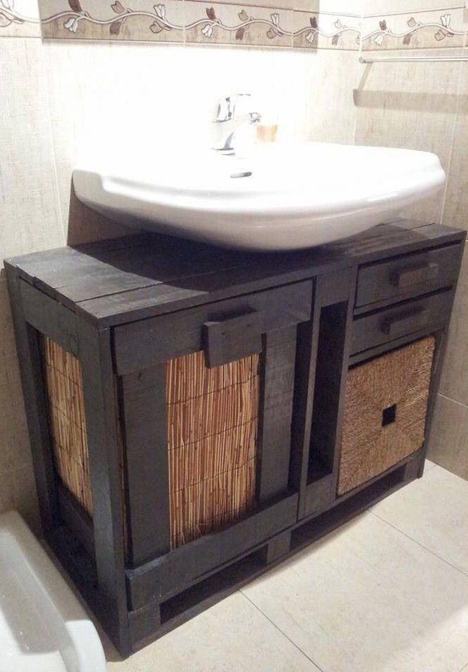 Gabinete de banheiro de pallet