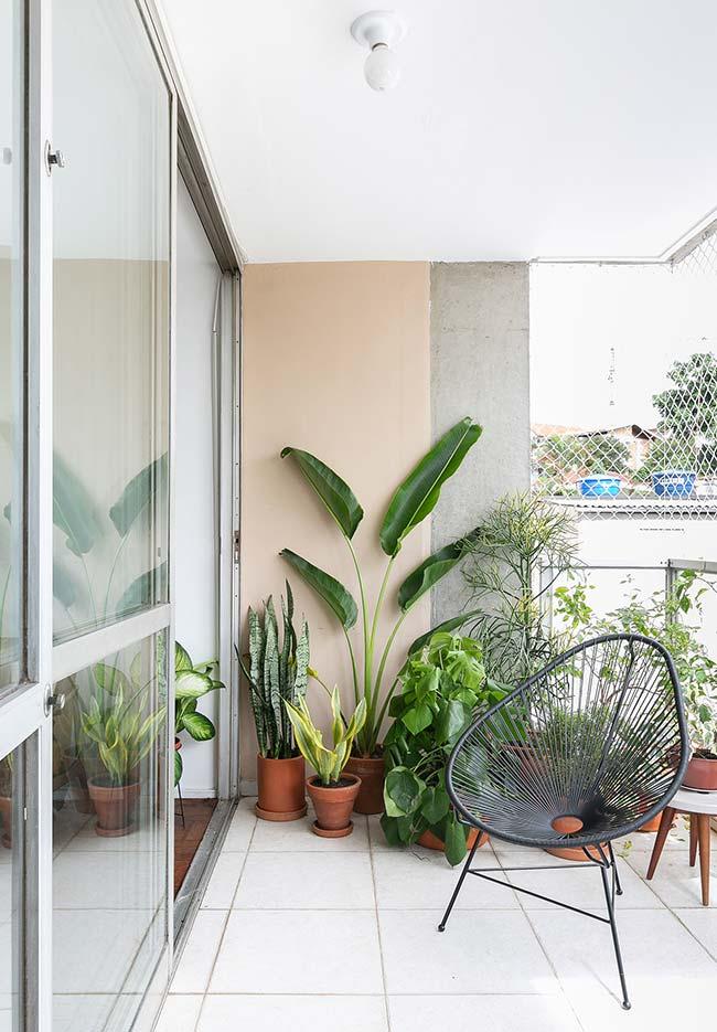 Piso para varanda para acomodar as plantinhas