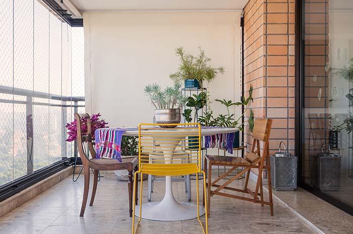 Sofisticação e rusticidade no piso para varanda